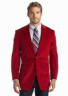 Saddlebred Classic Fit Red Corduroy Sport Coat