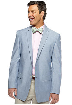 Saddlebred Big & Tall Blue Chambray Sportcoat