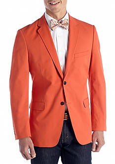 Saddlebred Classic-Fit Cotton Oxford Mid Orange Blazer