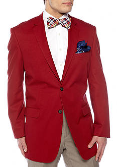 Saddlebred Classic Fit Cotton Red Blazer