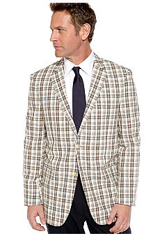 Saddlebred Plaid Seersucker Sportcoat