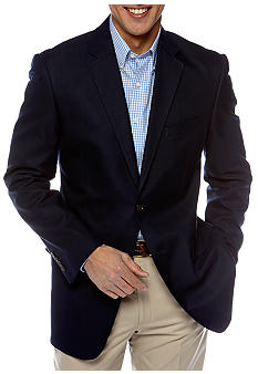 Saddlebred Navy Cotton Oxford Sport Coat