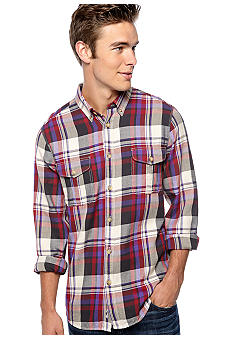 Ben Sherman Brushed Twill Plaid Shirt