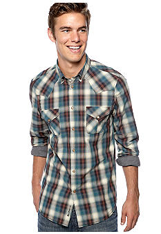Ben Sherman Ombre Western Plaid Shirt