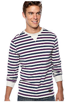 Ben Sherman Marl Stripe Crew Neck Shirt