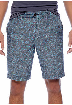 Ben Sherman Floral Print Chambray Short
