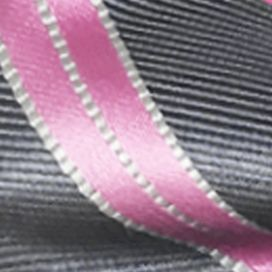 Mens Ties: All Neckties: Charcoal Susan G. Koman Knots for Hope Stripe Bow Tie