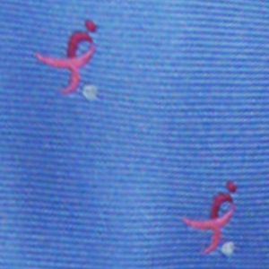 Men: Neckties Sale: Blue 'Knots For Hope' Necktie Benefiting Susan G. Komen For The Cure