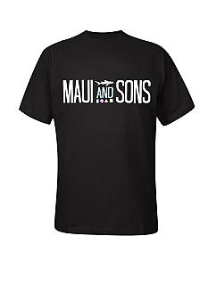 Maui and Sons Big & Tall Surfboard Shark Tee