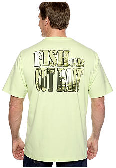 Saddlebred® Big & Tall Fish Or Cut Bait Screen Tee