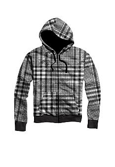 Hybrid Washed Twill Plaid Hoodie