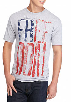 Hybrid™ Red, White and Blue Freedom Graphic Tee