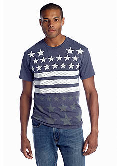 Hybrid™ Star Drops Stripes Tee