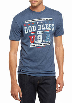 Hybrid™ God Bless The USA Graphic Tee
