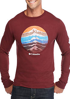Columbia Long Sleeve Cascade Circle Mountain Graphic Tee