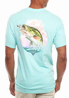 Columbia PFG Short Sleeve Flanker Bass Graphic Tee