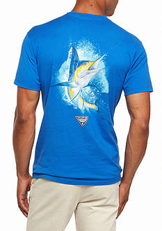 Columbia PFG Short Sleeve Great Catch Marlin Graphic Tee