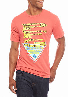 Columbia PFG Short Sleeve Yang Logo With Fish Graphic Tee
