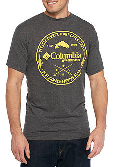 Columbia Big & Tall Dinner Won't Catch Itself Short Sleeve Graphic Tee