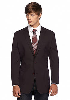BUFFALO DAVID BITTON Slim Fit Burgundy Pindot Blazer