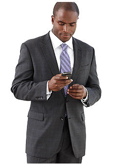 Nautica Charcoal Plaid Suit Separate Coat