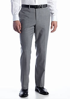 Nautica Wrinkle Resistant Gray Herringbone Suit Separate Pants