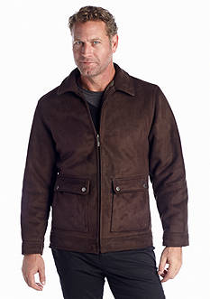 Nautica Faux Shearling Zip Front Coat