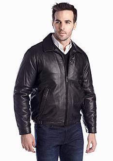 Nautica Leather Bomber Jacket