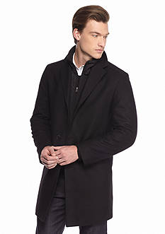 Nautica Wool Peacoat With Bib