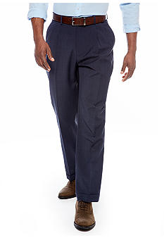 Nautica Pleated Travelwear Plaid Dress Pants