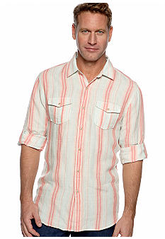 Ocean & Coast™ Sandstriped Linen Woven Shirt