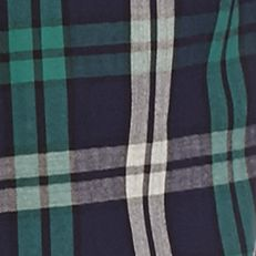 Men: Saddlebred Casual Shirts: Navy Green Saddlebred Long Sleeve Plaid Woven Shirt
