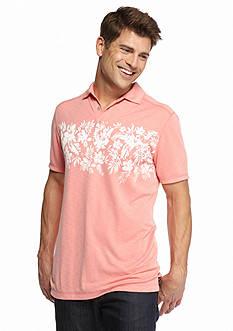 Ocean & Coast Short Sleeve Floral Print Polo Shirt