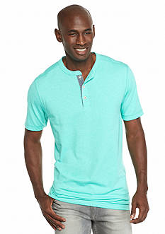 Ocean & Coast Short Sleeve Jaspe Henley Shirt