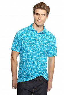 Ocean & Coast Short Sleeve Allover Tropical Print Polo Shirt