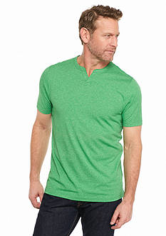 Ocean & Coast Short Sleeve Jasper Split Neck T-Shirt