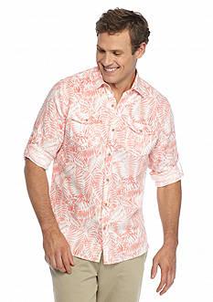 Ocean & Coast Long Sleeve Floral Linen Woven Shirt