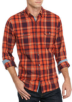 Ocean & Coast Long Sleeve Plaid Brushed Twill Shirt