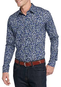 Saddlebred 1888 Long Sleeve Paisley Print Shirt