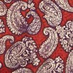 Mens Casual Shirts: Paisley & Floral: Red Saddlebred 1888 Long Sleeve Paisley Print Shirt