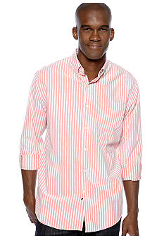 Black Brown 1826 Vertical Stripe Oxford Shirt