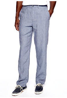 Black Brown 1826 Chalk Stripe Linen Pants