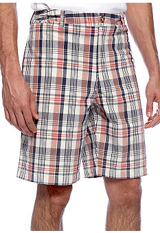 Black Brown 1826 South Padre Plaid Short