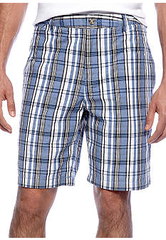 Black Brown 1826 Robert Oxford Plaid Short
