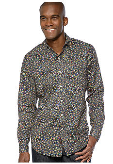 Black Brown 1826 Floral Woven Shirt