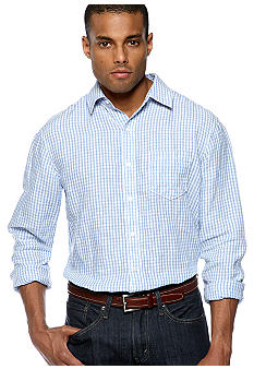 Black Brown 1826 Gingham Linen Shirt