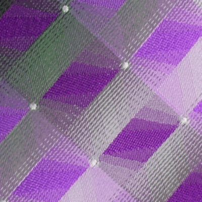 Young Mens Neckties: Purple Van Heusen 3D Geo Tie
