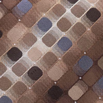 Young Mens Neckties: Brown Van Heusen Mini Square Geo Tie