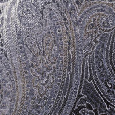 Van Heusen Men Sale: Black Van Heusen Textured Paisley Tie