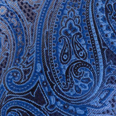 Van Heusen Men Sale: Blue Van Heusen Textured Paisley Tie